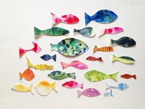 Ein Schwarm Fische