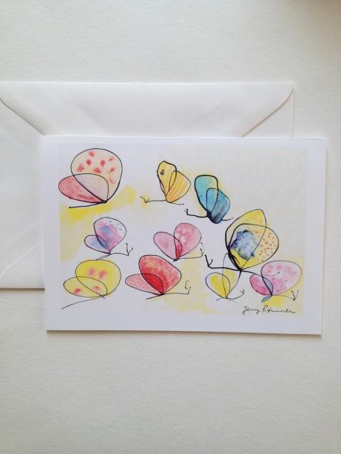 Schmetterlinge A5 Karte